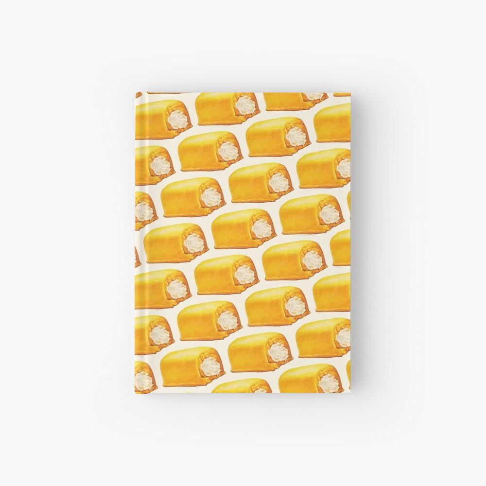 Yellow American Snack Cake Pattern Hardcover Journal