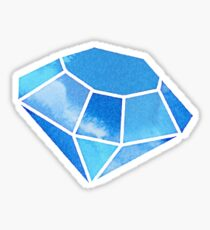 Watercolor Diamond Sticker