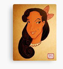Pin up girl headshot Canvas Print