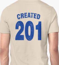 Team shirt - 201 Created, blue letters T-Shirt