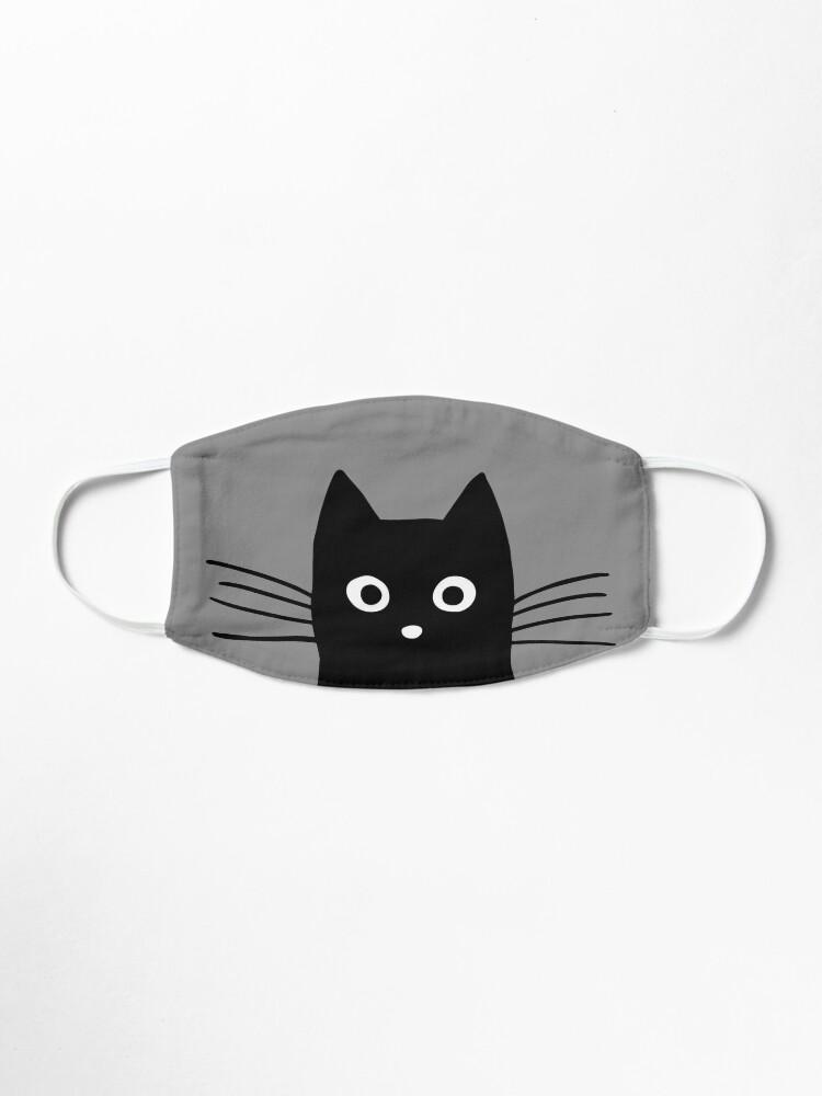 Alternate view of Black Cat Face Mask