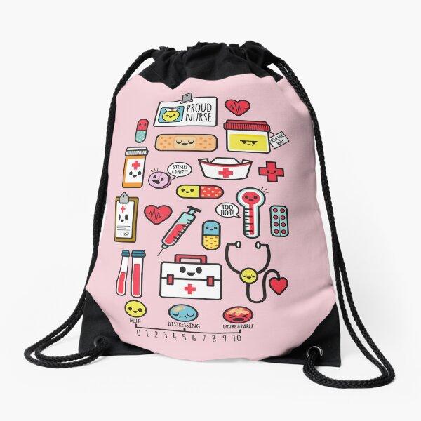Proud To Be a Nurse /  Pink Drawstring Bag