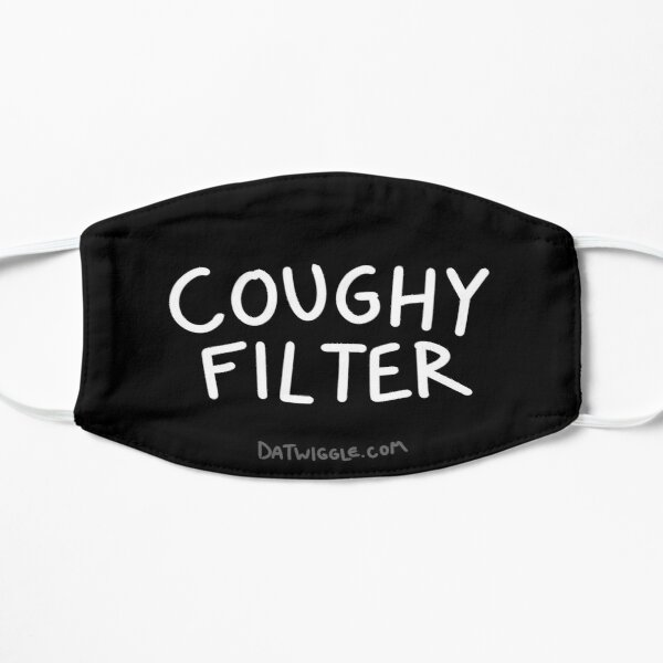 Coughy Filter on Black Mask