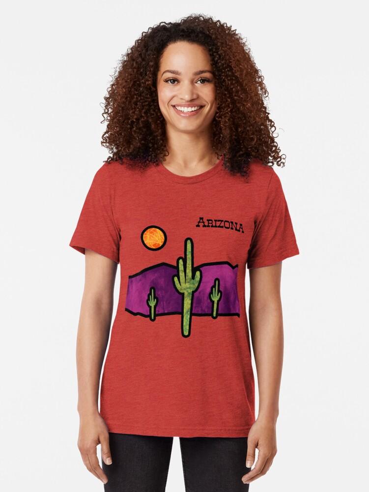 Vista alternativa de Camiseta de tejido mixto Vidriera del desierto