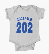 Team shirt - 202 Accepted, blue letters One Piece - Short Sleeve
