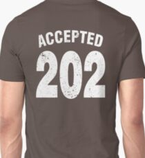 Team shirt - 202 Accepted, white letters T-Shirt