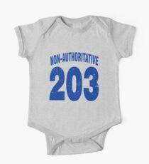 Team shirt - 203 Non-Authoritative, blue letters Kids Clothes