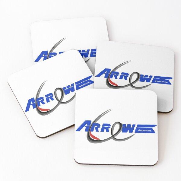 Arrow Dynamics Double Logo Coasters (Set of 4)