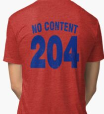 Team shirt - 204 No Content, blue letters Tri-blend T-Shirt