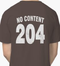Team shirt - 204 No Content, white letters Classic T-Shirt