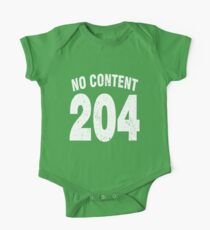 Team shirt - 204 No Content, white letters One Piece - Short Sleeve