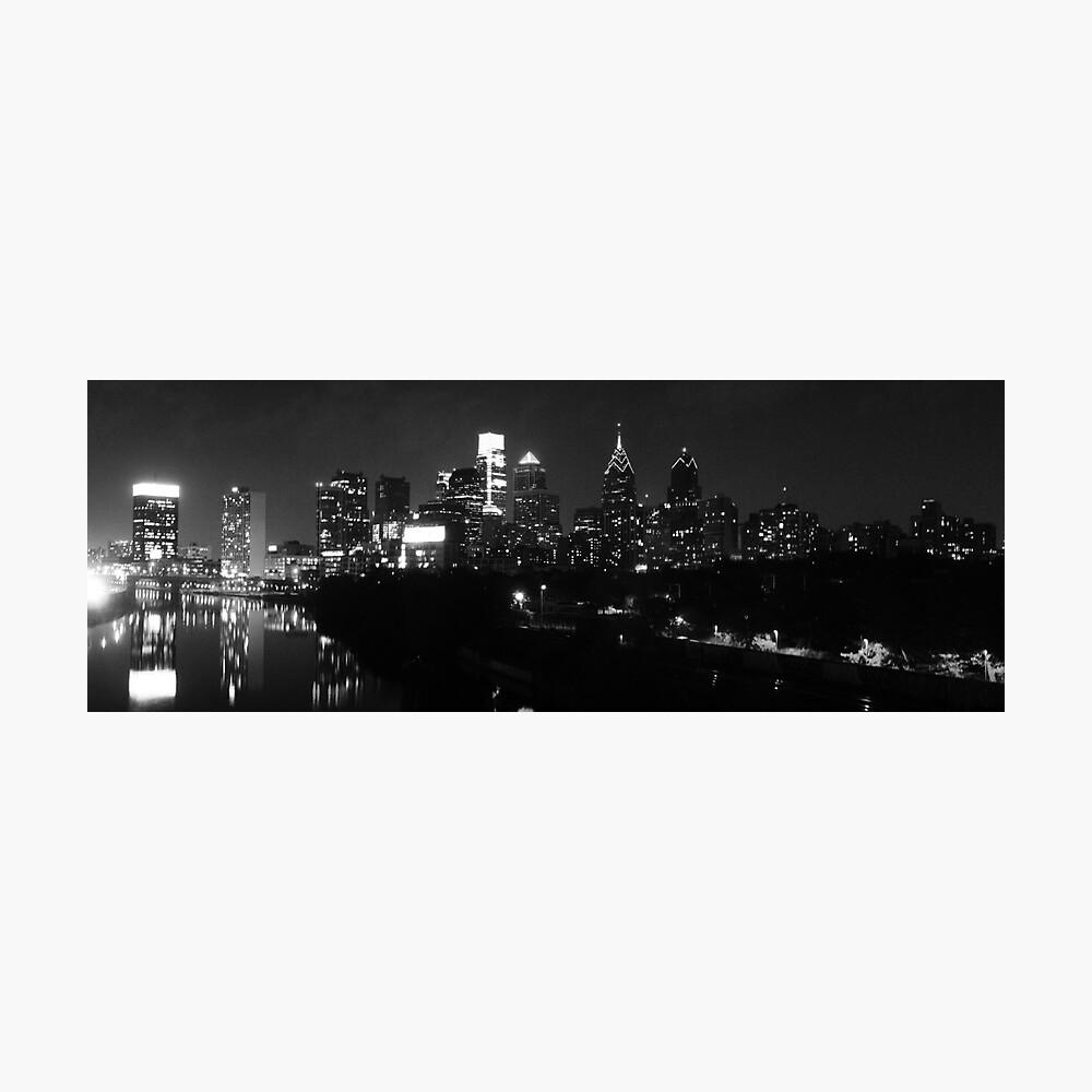 Philadelphia Skyline Panorama - Photo B&W Fotodruck