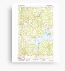 USGS Topo Map Washington State WA Silver Lake 243717 1985 24000 Canvas Print