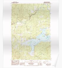 USGS Topo Map Washington State WA Silver Lake 243717 1985 24000 Poster