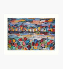 tuscany with flowers Art Print