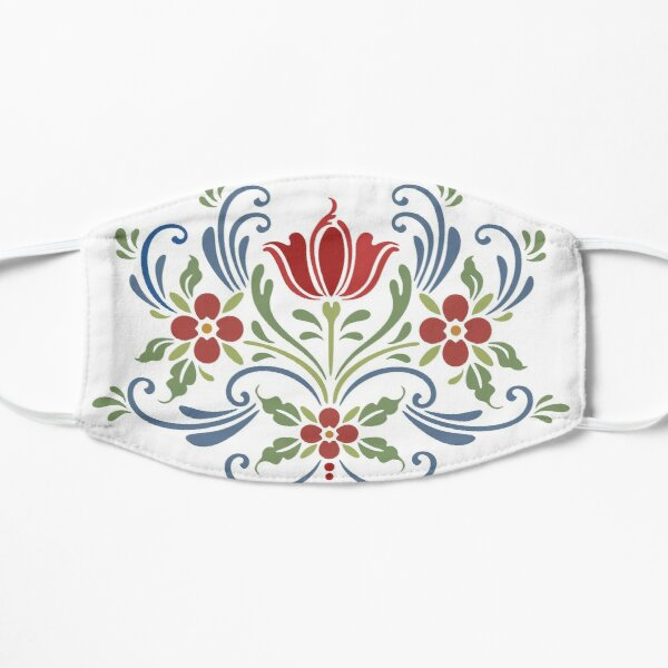 Scandinavian Flowers Mask