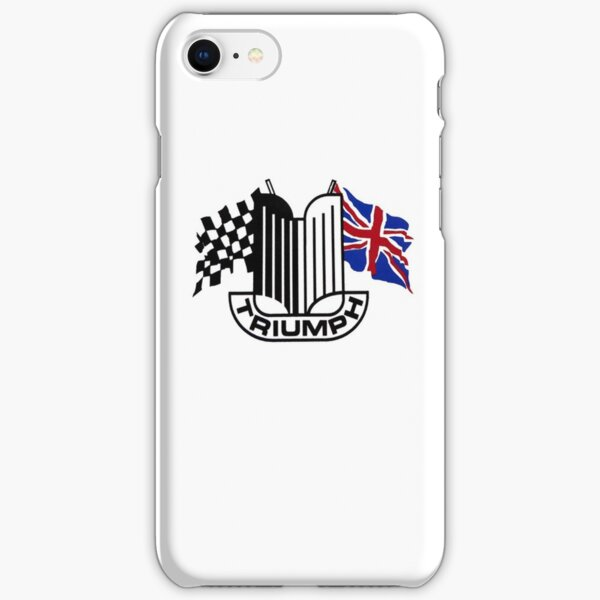 Triumph Shield with Checkered Racing and British Flag iPhone Snap Case