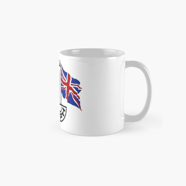 Triumph Shield with Checkered Racing and British Flag Classic Mug