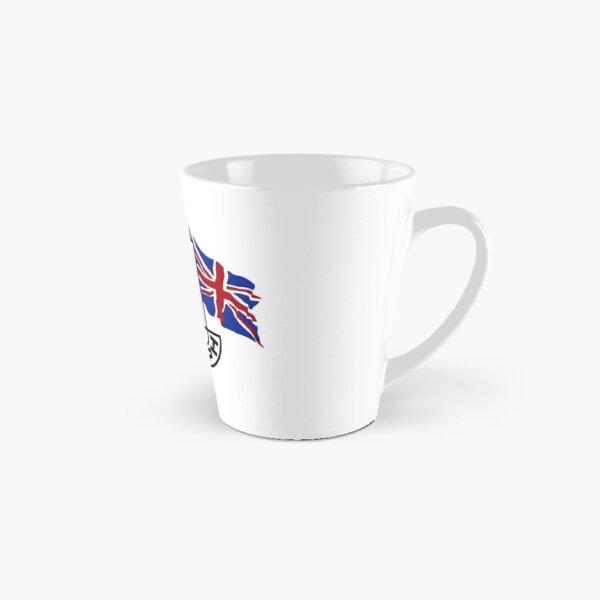 Triumph Shield with Checkered Racing and British Flag Tall Mug