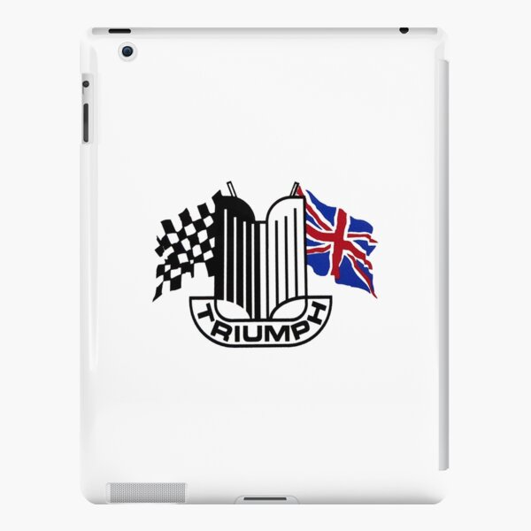 Triumph Shield with Checkered Racing and British Flag iPad Snap Case