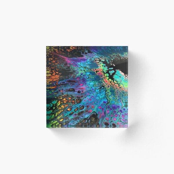 Black Rainbow III Acrylic Block