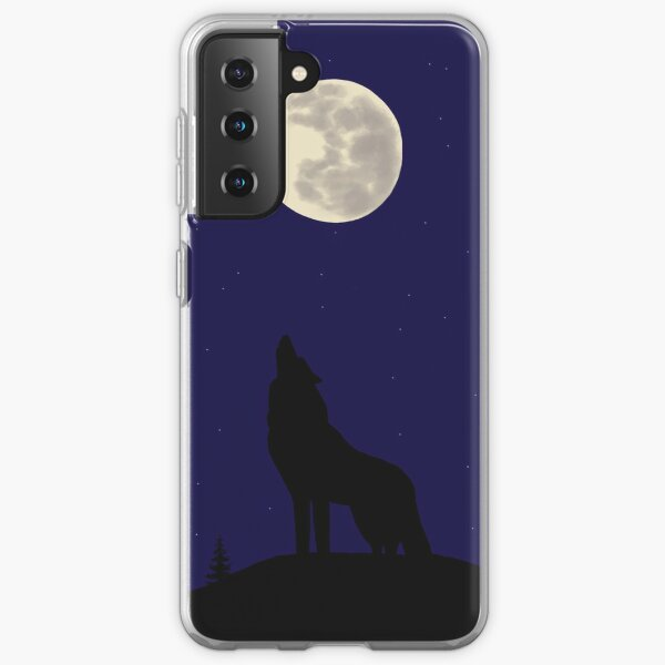 Wolf Howling at Moon  Samsung Galaxy Soft Case