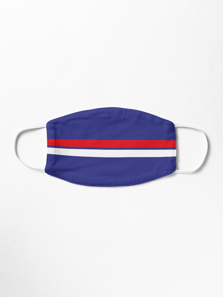 Alternate view of Western Bulldogs colours face mask Mask