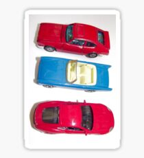 red and blue toy cars Sticker