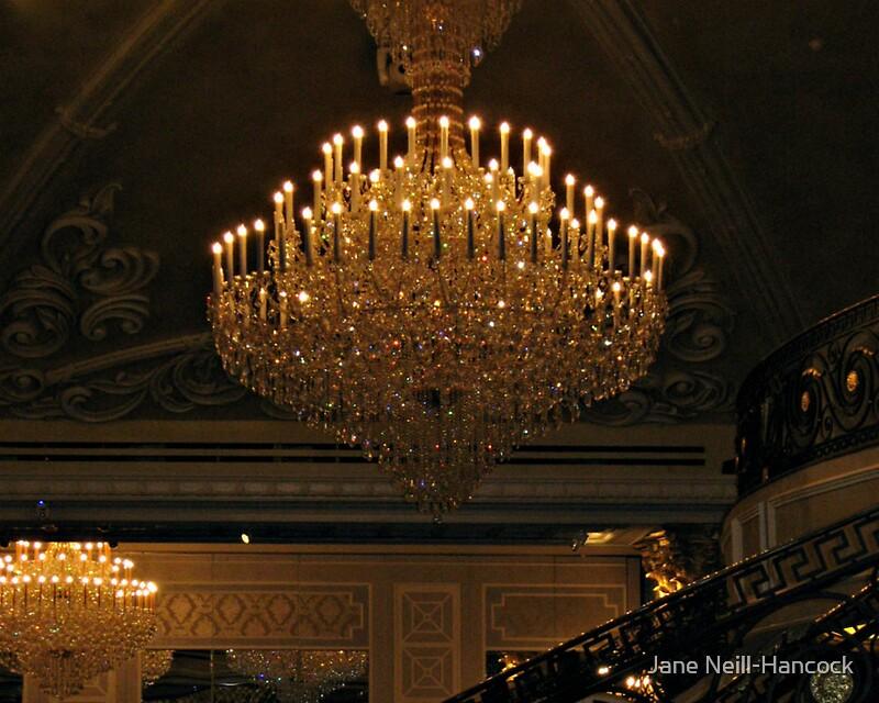 Grand chandelier in the ballroom the venetian garfield nj posters grand chandelier in the ballroom the venetian garfield nj by jane neill hancock aloadofball Images