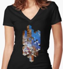 Ramblocks Women's Fitted V-Neck T-Shirt