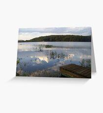 MUUSA lake mirror sky Greeting Card