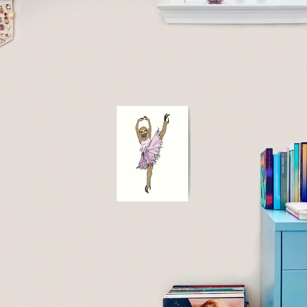 Sloth Ballerina Tutu Art Print