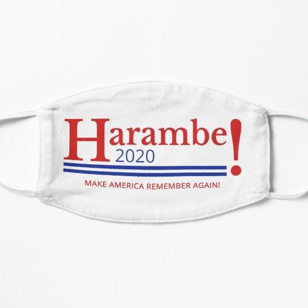 Harambe for President Logo 2020 Flat Mask