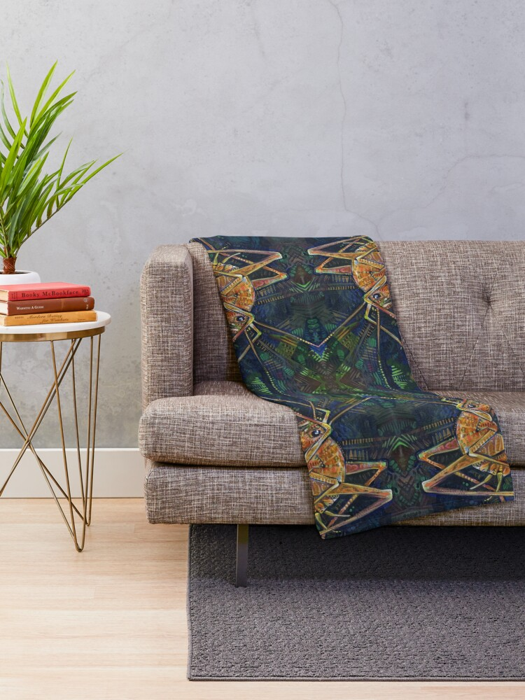 Alternate view of Asian Camel Cricket Painting - 2017 Throw Blanket