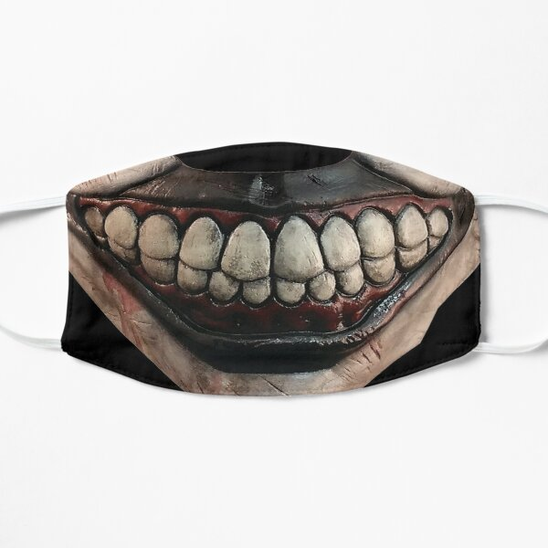 clown mask twisty horror Flat Mask