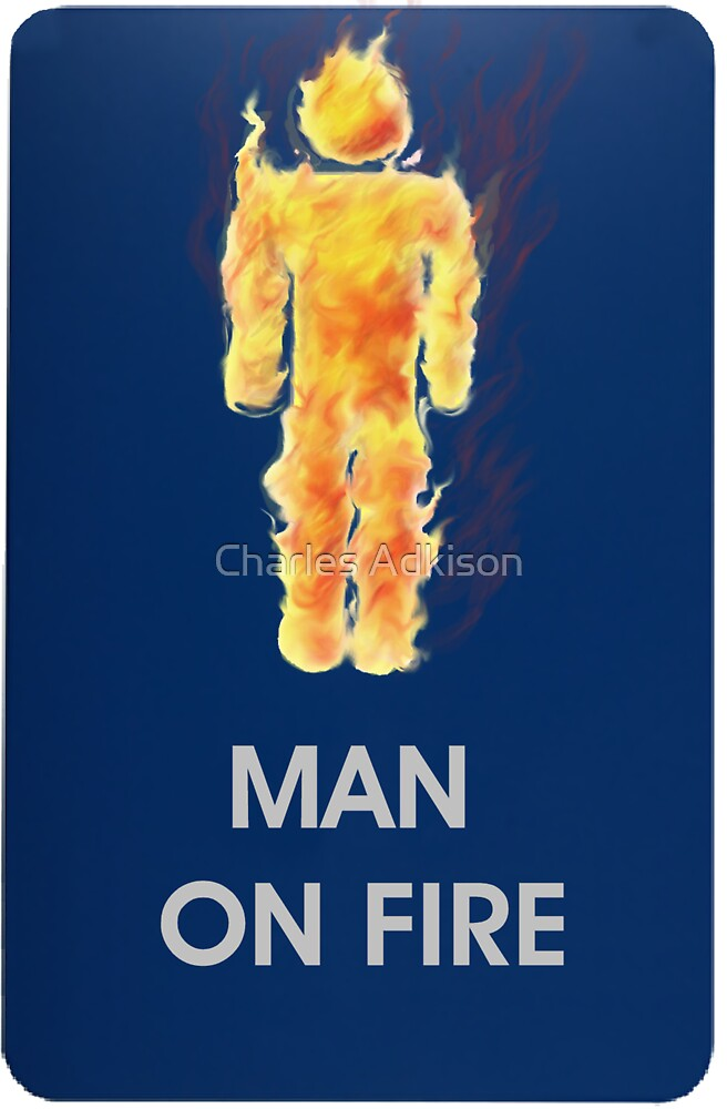 Man on fire (smaller logo) by Charles Adkison