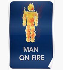 Man on fire (smaller logo) Poster