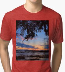 Beaufort Harbor Sunset Tri-blend T-Shirt