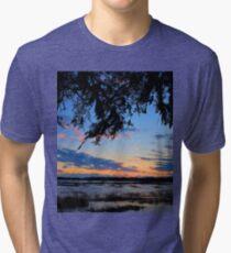 Beaufort Harbor Sunset Tri-blend T-Shirt