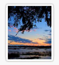 Beaufort Harbor Sunset Sticker