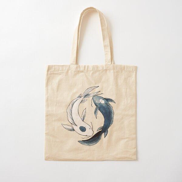 Tui and La - Yin & Yang Koi Cotton Tote Bag