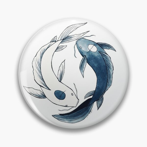Tui and La - Yin & Yang Koi Pin