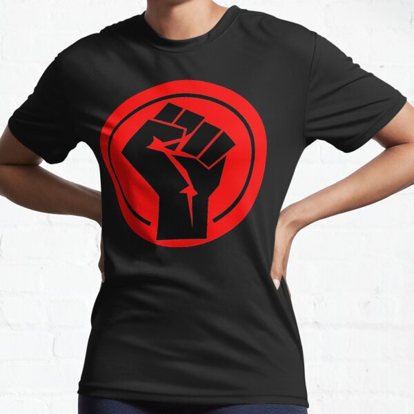 Raised Fist Kids Boys T-Shirt Red clenched Socialism Communism Symbol Sign Power
