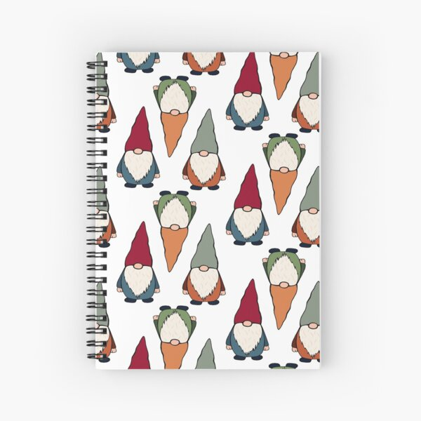 Gnome sticker pack and pattern 2 Spiral Notebook