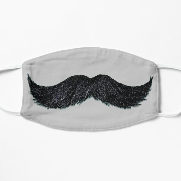 Moustache - Tee, masque facial, tasse, bouton, téléphone Cae et plus. Masque sans plis
