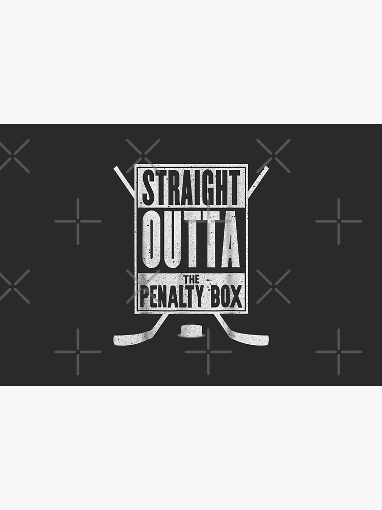 Straight Outta The Penalty Box Funny Ice Hockey Gift by RemusGalca