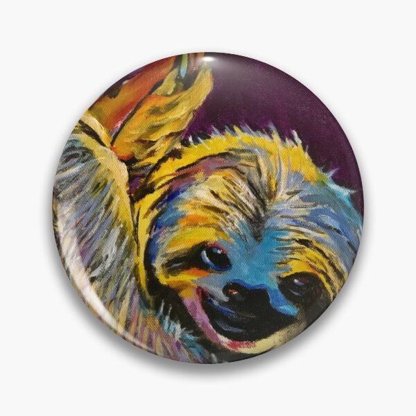Slow Hands Sloth Painting Pin