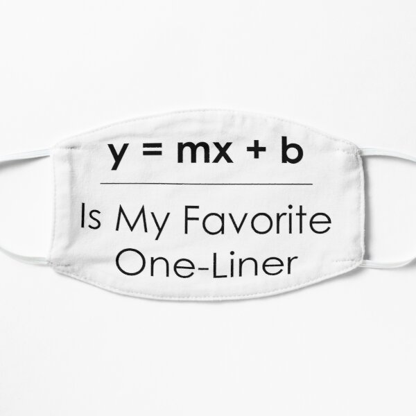 Math Pun One-Liner Mask