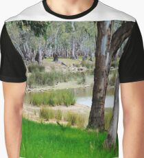 Water hole in the forest Graphic T-Shirt
