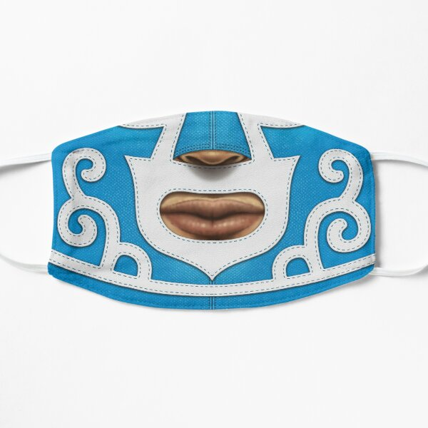 Mexican Wrestler (Blue) Flat Mask